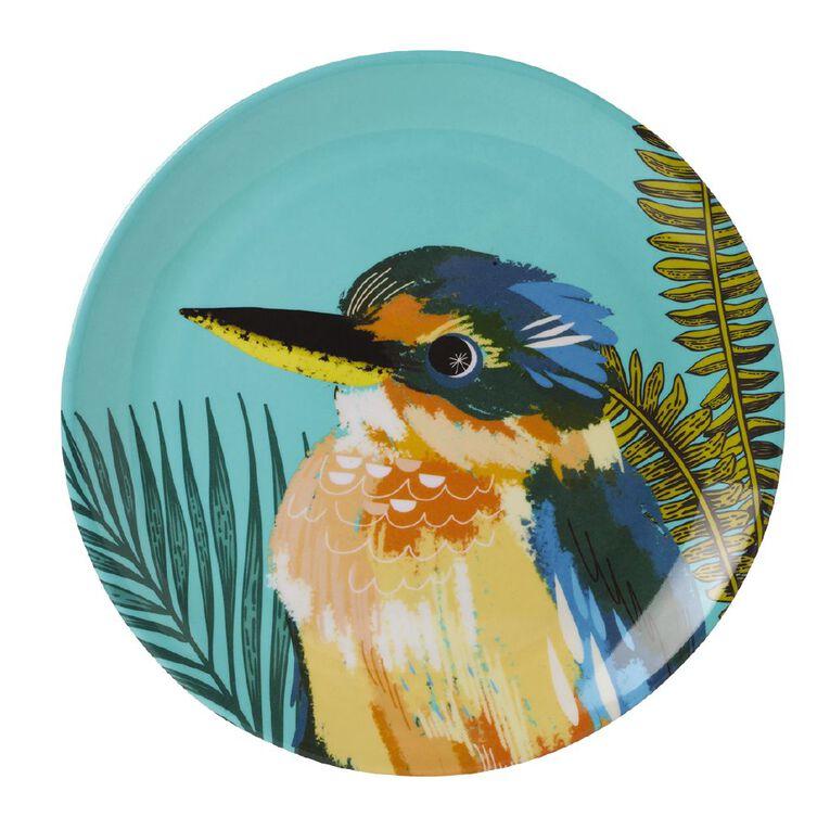 Living & Co Printed Melamine Plate Kingfisher Multi-Coloured, , hi-res