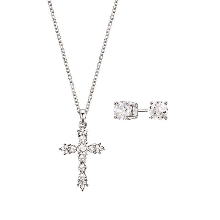 Mestige Silver Plated Hallelujah Set with Swarovski Crystals, , hi-res