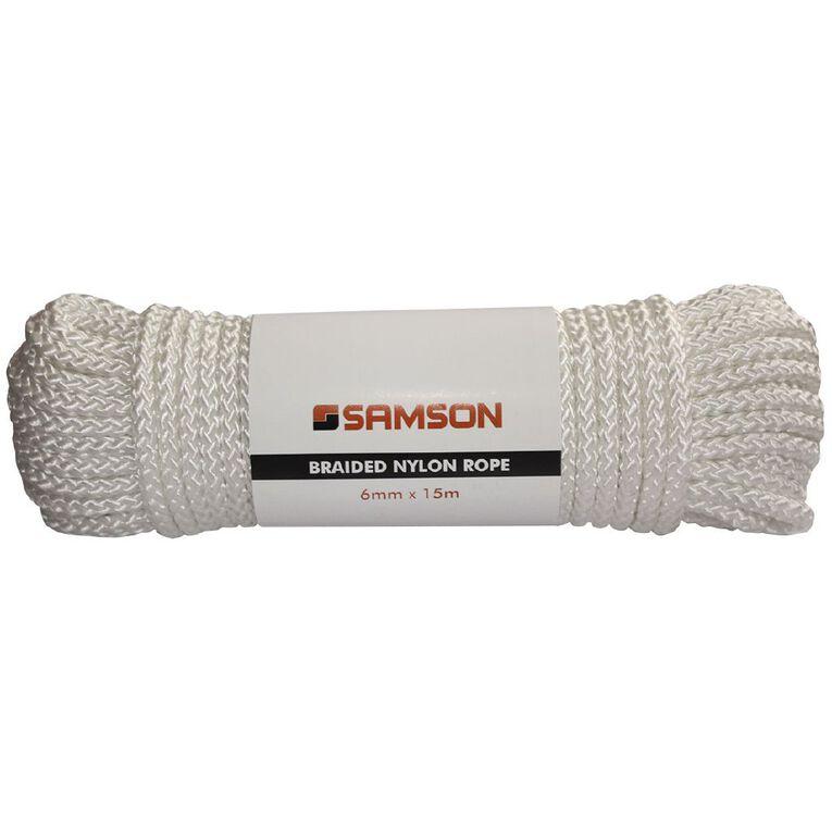 Mako Braided Nylon Rope 6mm x 15m, , hi-res