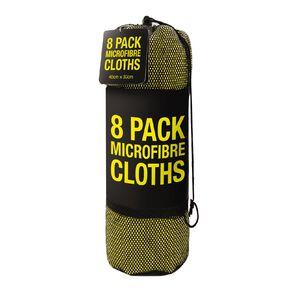Microfiber Clothes 8 Pack 40cm x 30cm Yellow