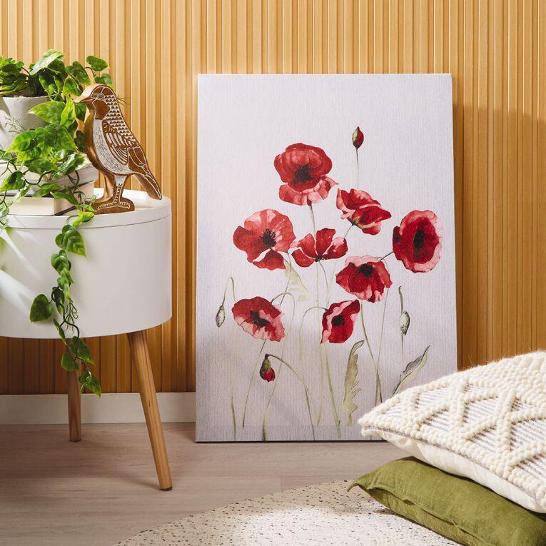 Living & Co Poppies Canvas 70 x 50 x 1.8cm, , hi-res