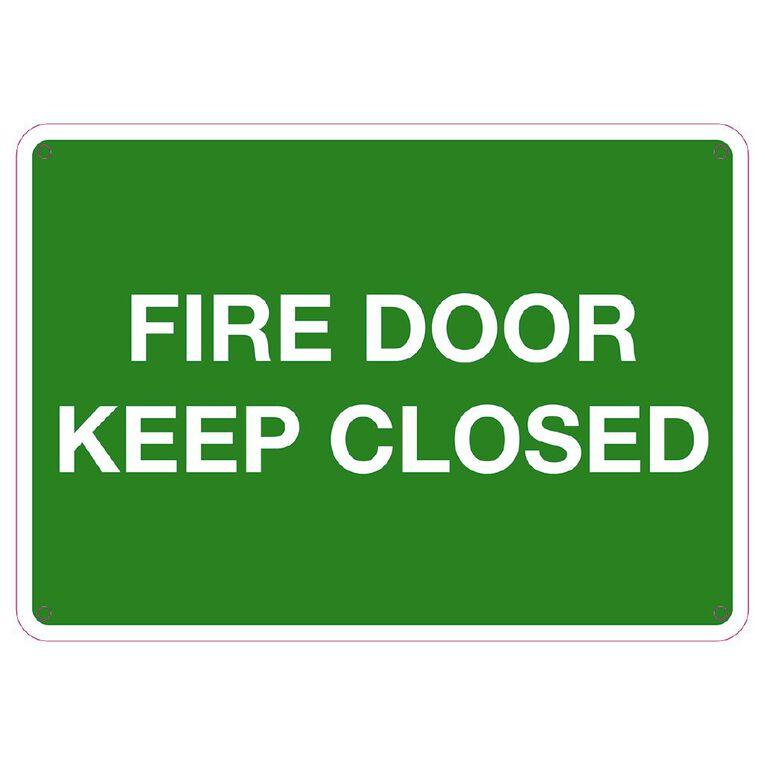 WS Fire Door Keep Closed Sign Small 240mm x 340mm, , hi-res