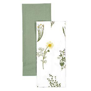 Living & Co Tea Towel Herb 2 Pack 50cm x 70cm