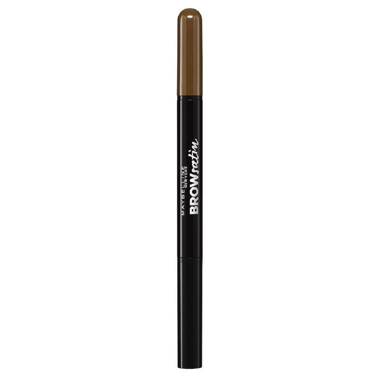 Maybelline Brow Satin Pencil & Powder Duo - Medium Brown, , hi-res