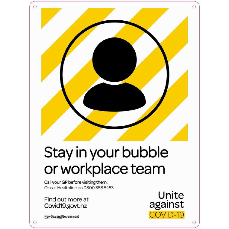 WS COVID Sign STAY IN YOUR BUBBLE, , hi-res