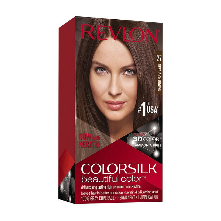 Revlon Colorsilk Beautiful Color Deep Rich Brown 27, , hi-res