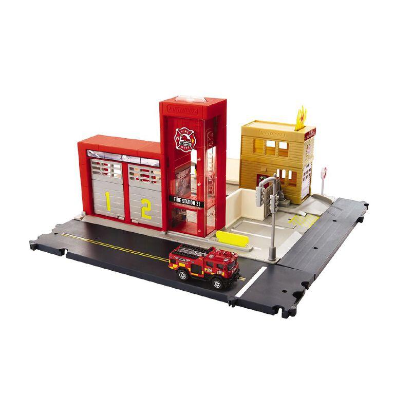 Matchbox Fire Station/Carpark Assorted, , hi-res