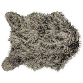 Living & Co Faux Fur Icelandic Rug Grey 90cm x 120cm