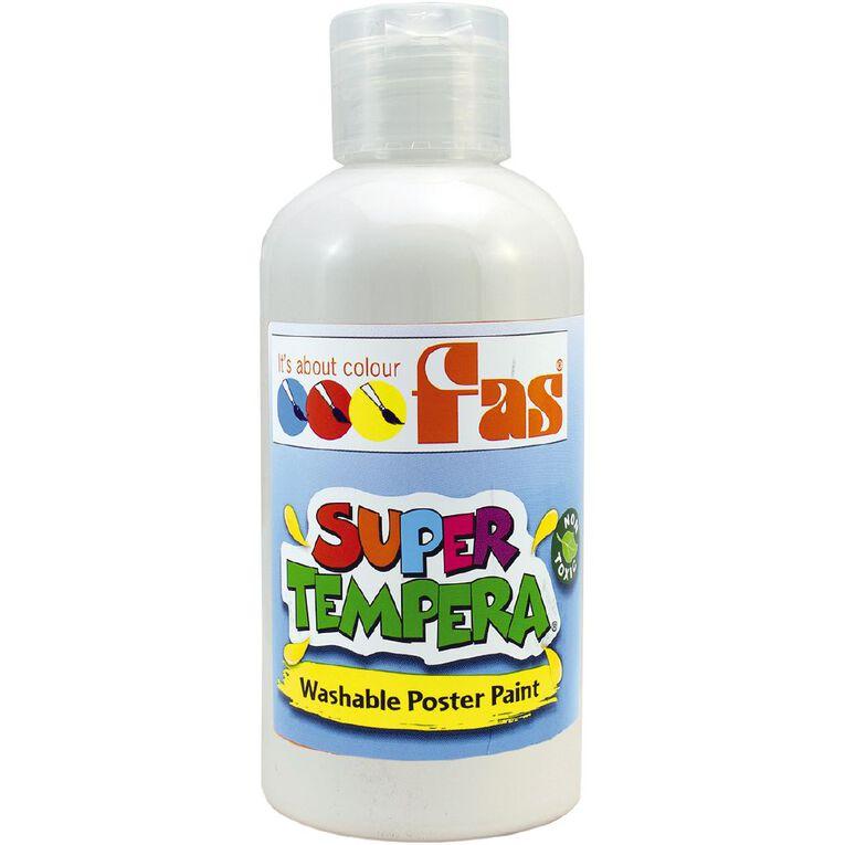 FAS Paint Super Tempera 250ml White, , hi-res