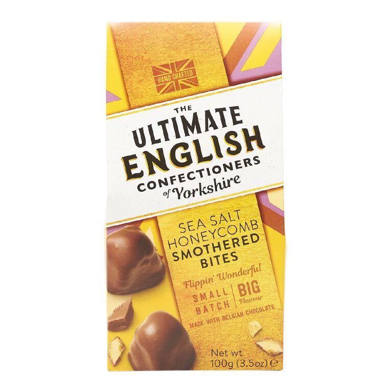 Ultimate English Ultimate English Honeycomb Milk Chocolate Bites 100g, , hi-res