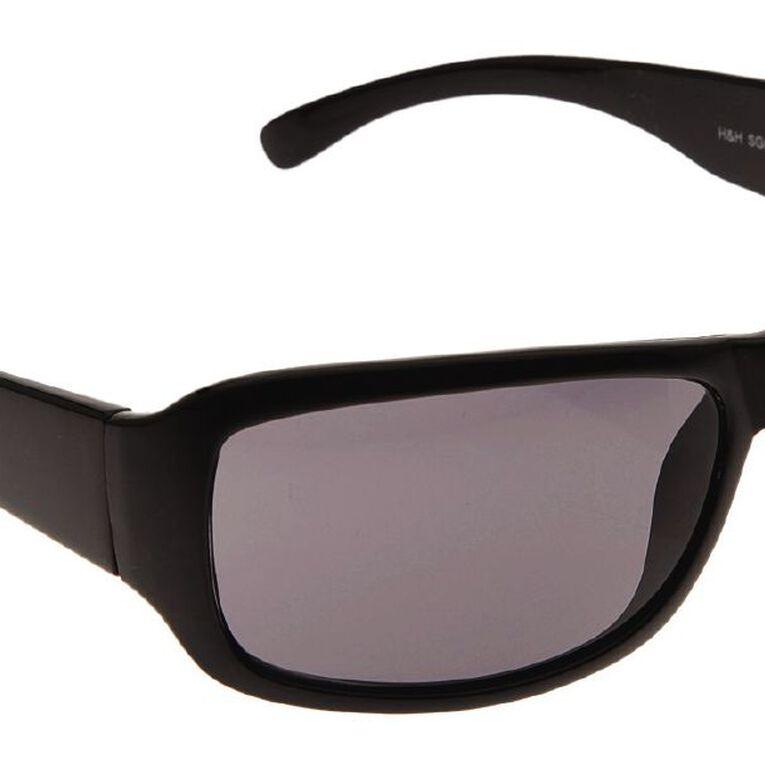 Beach Works Women's Wrap Sunglasses, Black, hi-res