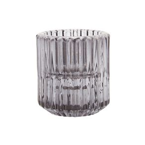 Living & Co Textured Tealight & Table Candle Holder Grey