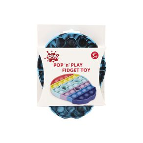 Play Studio Pop 'n' Play Fidget Toy Skull Blue/Black Tie Dye