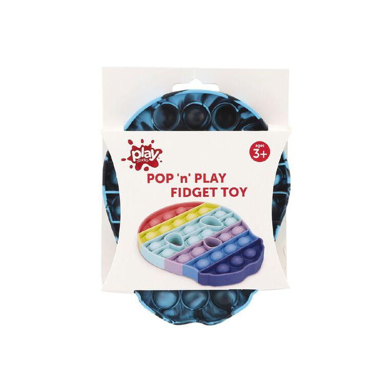 Play Studio Pop 'n' Play Fidget Toy Skull Blue/Black Tie Dye, , hi-res