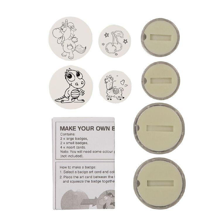 Kookie Make Your Own Badges 4 Piece, , hi-res