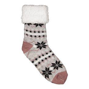 H&H Women's Sherpa Lined Socks 1 Pair