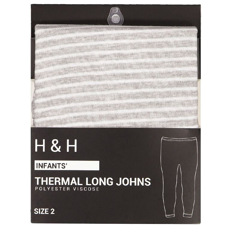 H&H Infants Polyester Viscose Long John Thermal, Grey, hi-res image number null