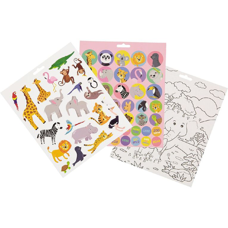 Kookie Sticker Activity Pad Who's At The Zoo, , hi-res