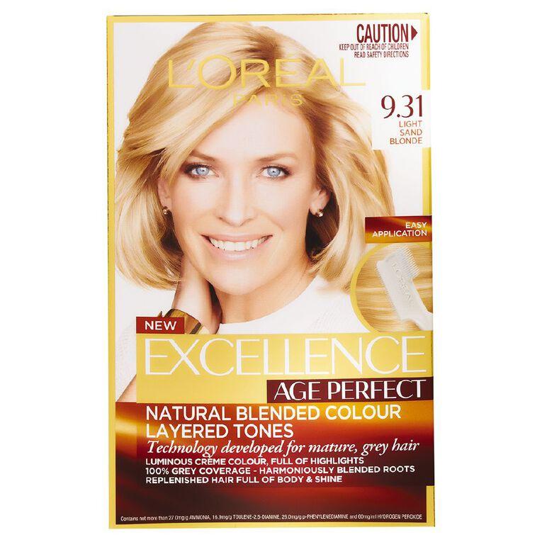 L'Oreal Paris Excellence Age Perfect Light Sand Blonde 9.31, , hi-res