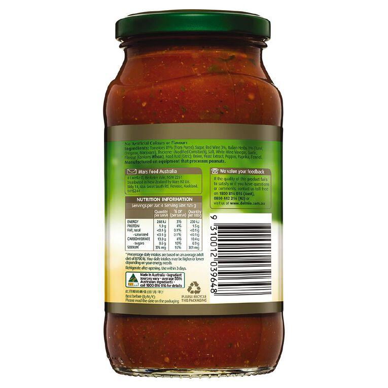 Dolmio Extra Pasta Sauce Red Wine & Italian Herbs Jar 500g, , hi-res image number null