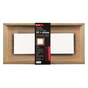 Jasart Framed Floating Canvas Panel 20x40cm
