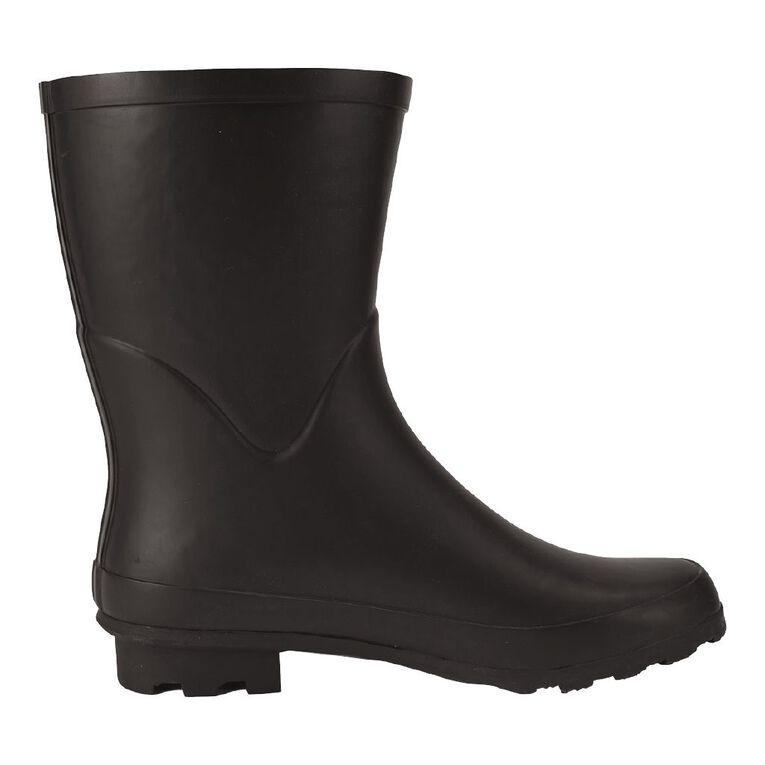 H&H Women's Classic 3/4 Length Gumboots, Black, hi-res