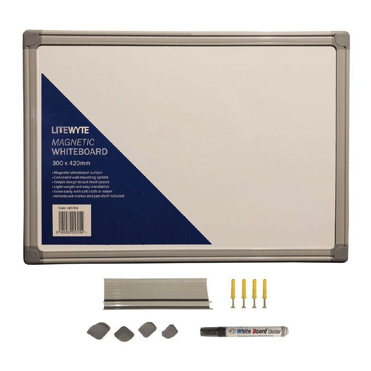 Litewyte Whiteboard 300mm x 420mm A3, , hi-res