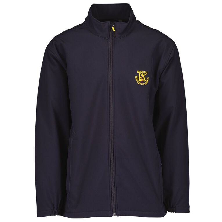 Schooltex Kowhai Intermediate Jacket with Embroidery, Navy, hi-res