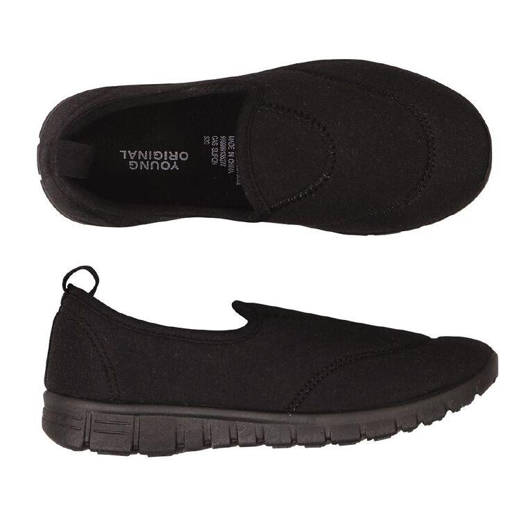 Young Original Kids' Slip On Shoes, Black, hi-res