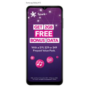 Spark Samsung Galaxy A12 128GB 4G + Sim Bundle - Black