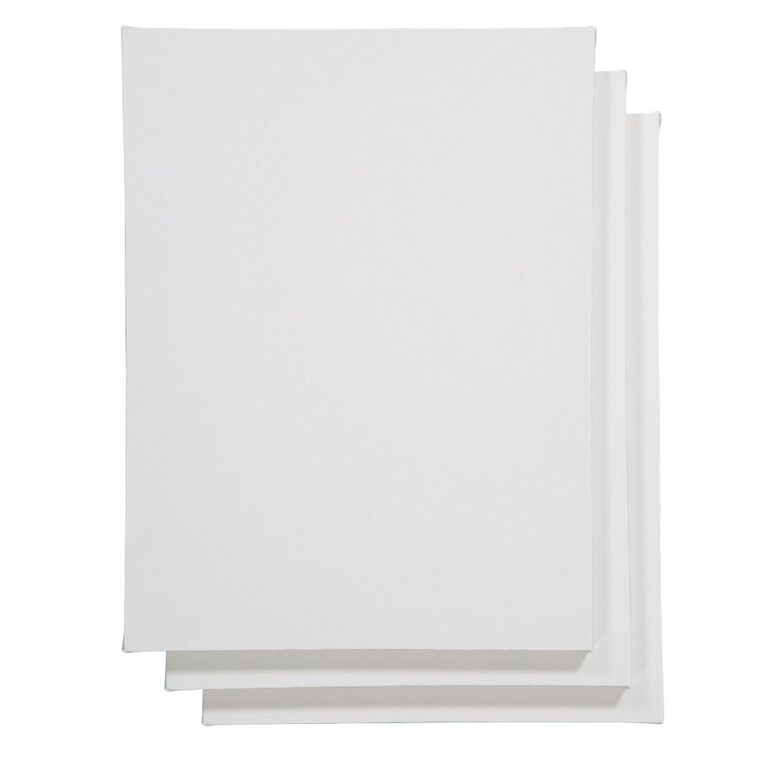 Uniti Blank Canvas 280gsm 9in x 12in 3 Pack, , hi-res