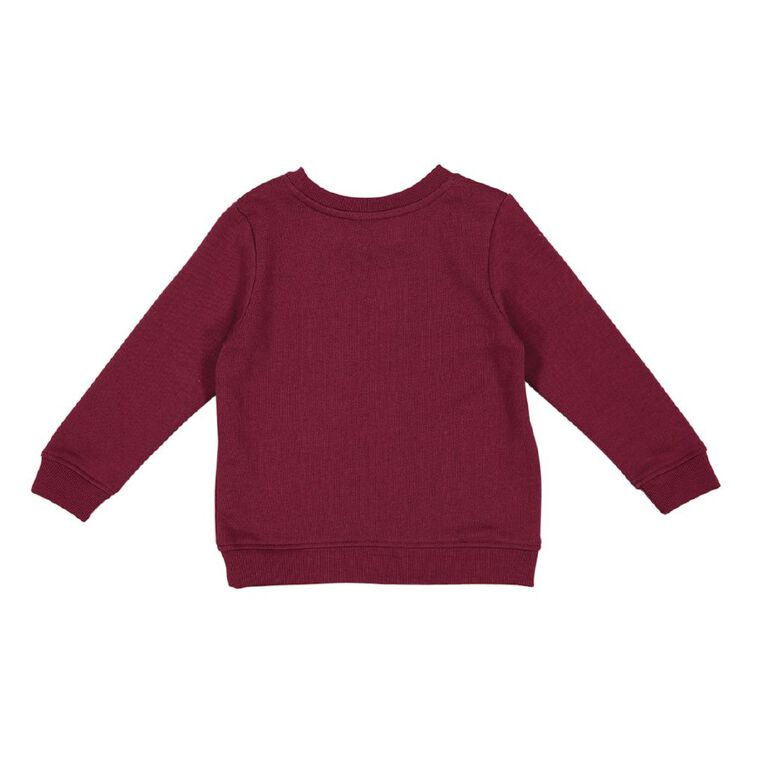 Young Original Toddler Printed Sweatshirt, Red Mid, hi-res